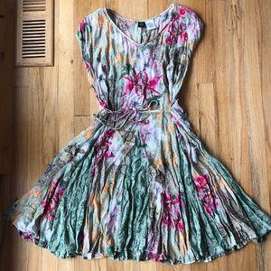 Flowy Floral Cap Sleeve Dress